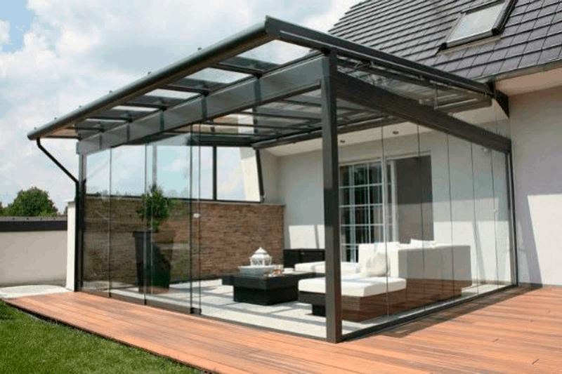 vidrio para el porche